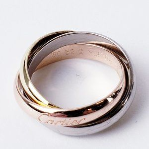 Cartier Trinity Ring 18K Tri Gold Size 6